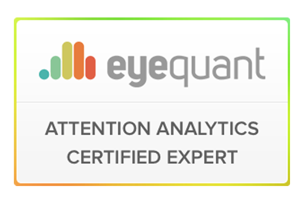 Zertifizierungs-Siegel eyequant attention analyst certified expert